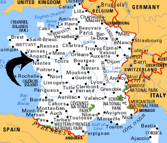 Map Of France Nantes.Map Of France Nantes Region Travel
